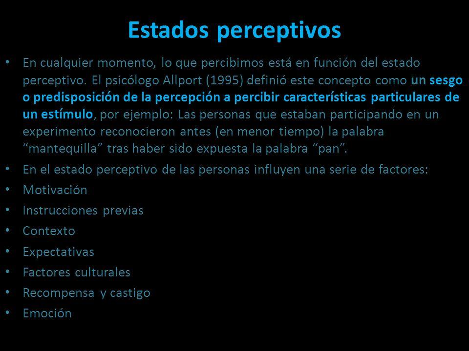 Estados perceptivos Estados perceptivos