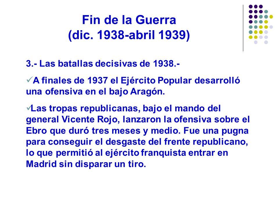Fin de la Guerra (dic. 1938-abril 1939)