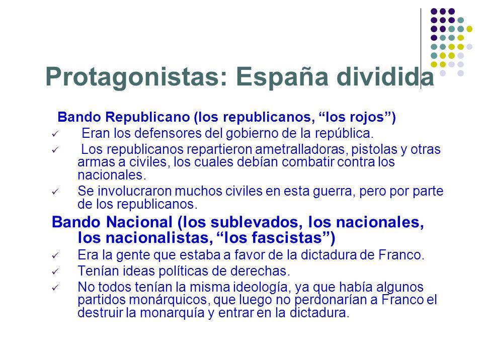 Protagonistas: España dividida