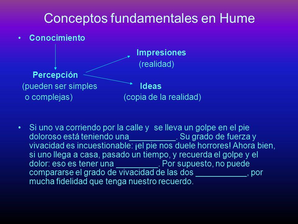 Conceptos fundamentales en Hume