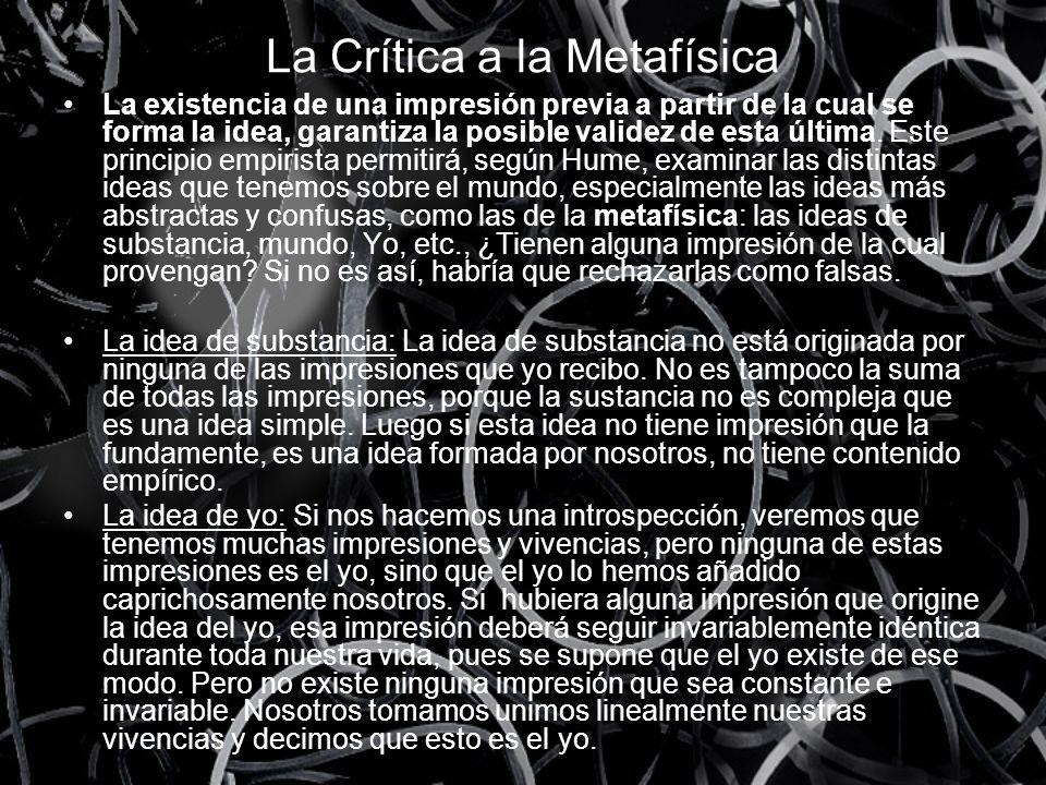 La Crítica a la Metafísica