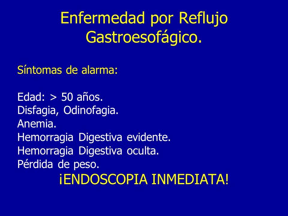 Enfermedad por Reflujo Gastroesofágico.