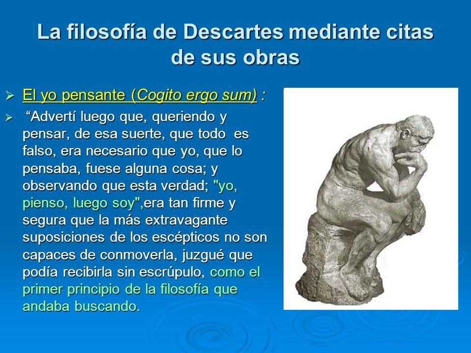 La filosofía de Descartes mediante citas de sus obras