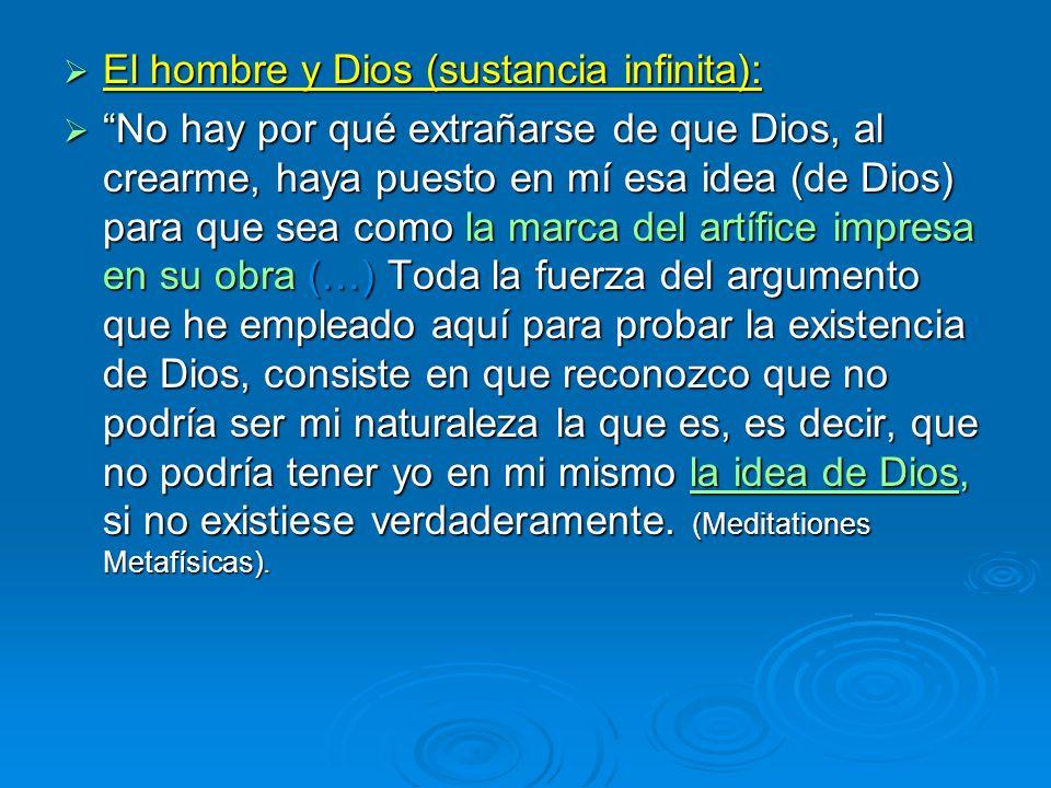 El hombre y Dios (sustancia infinita):