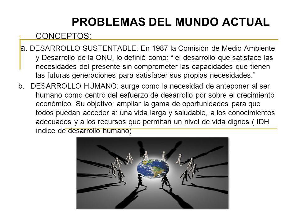 PROBLEMAS DEL MUNDO ACTUAL