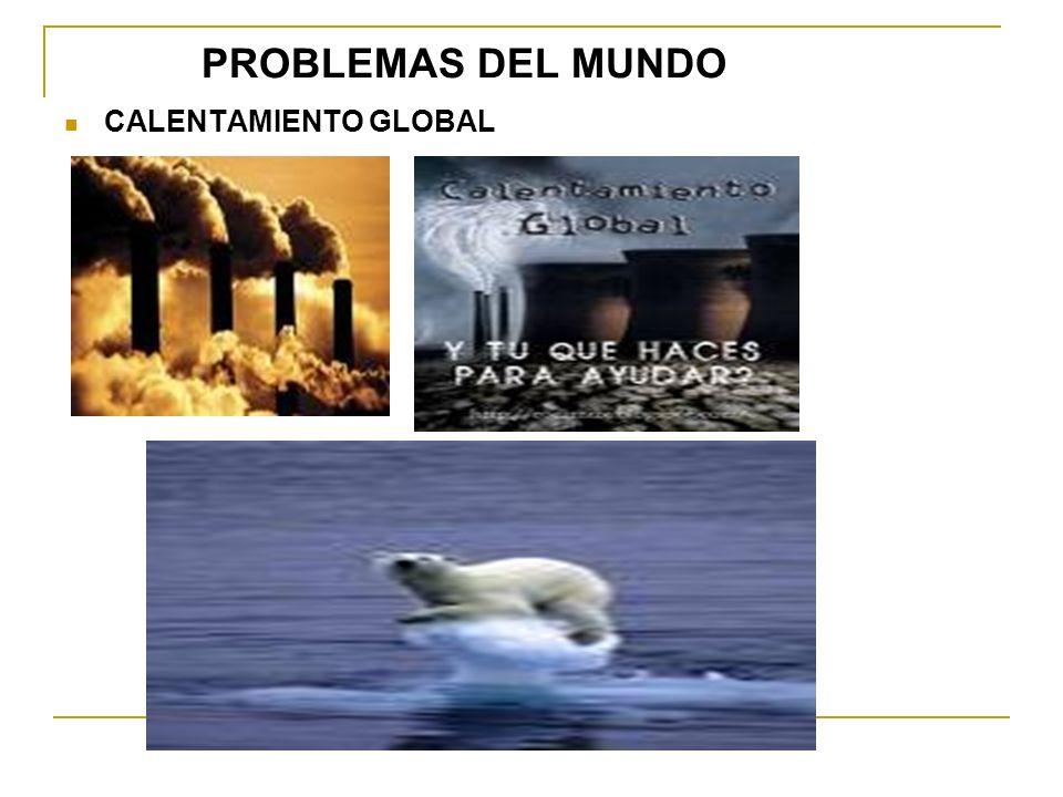 PROBLEMAS DEL MUNDO CALENTAMIENTO GLOBAL