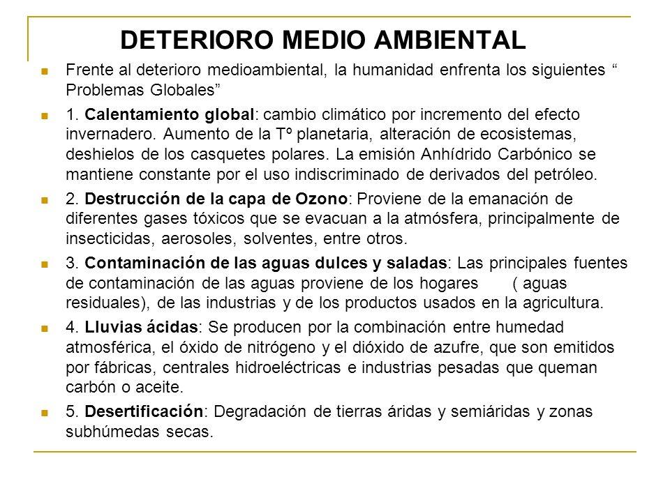 DETERIORO MEDIO AMBIENTAL