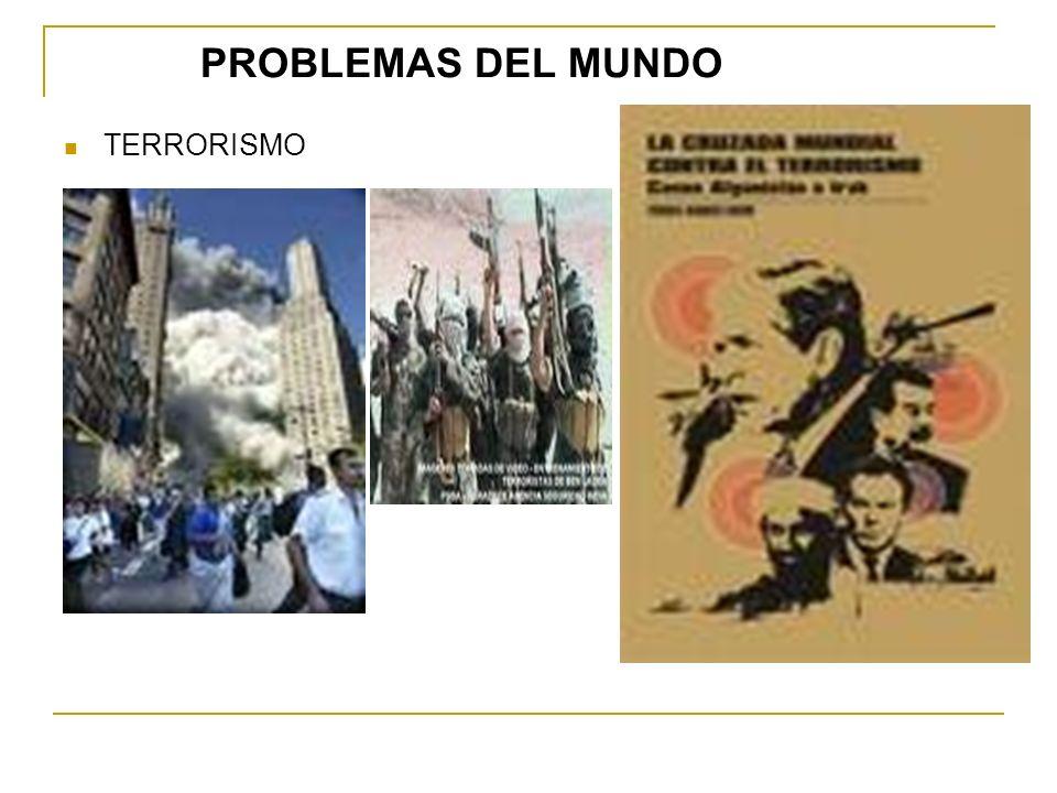 PROBLEMAS DEL MUNDO TERRORISMO