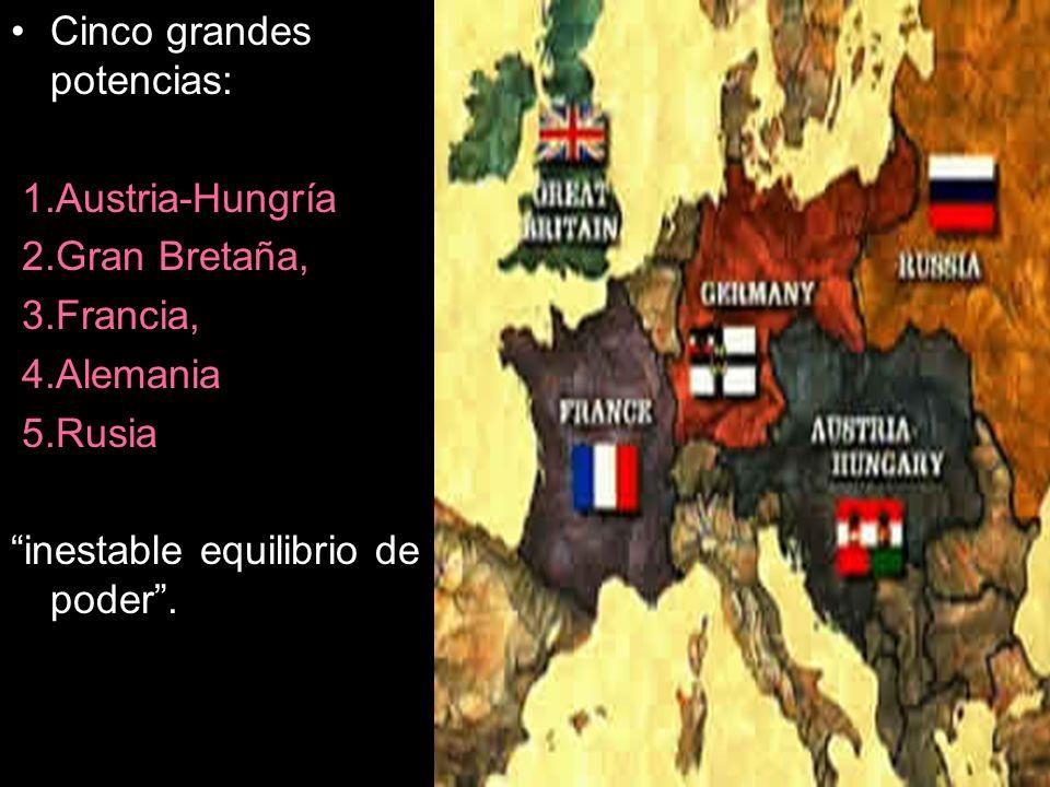 Cinco grandes potencias: