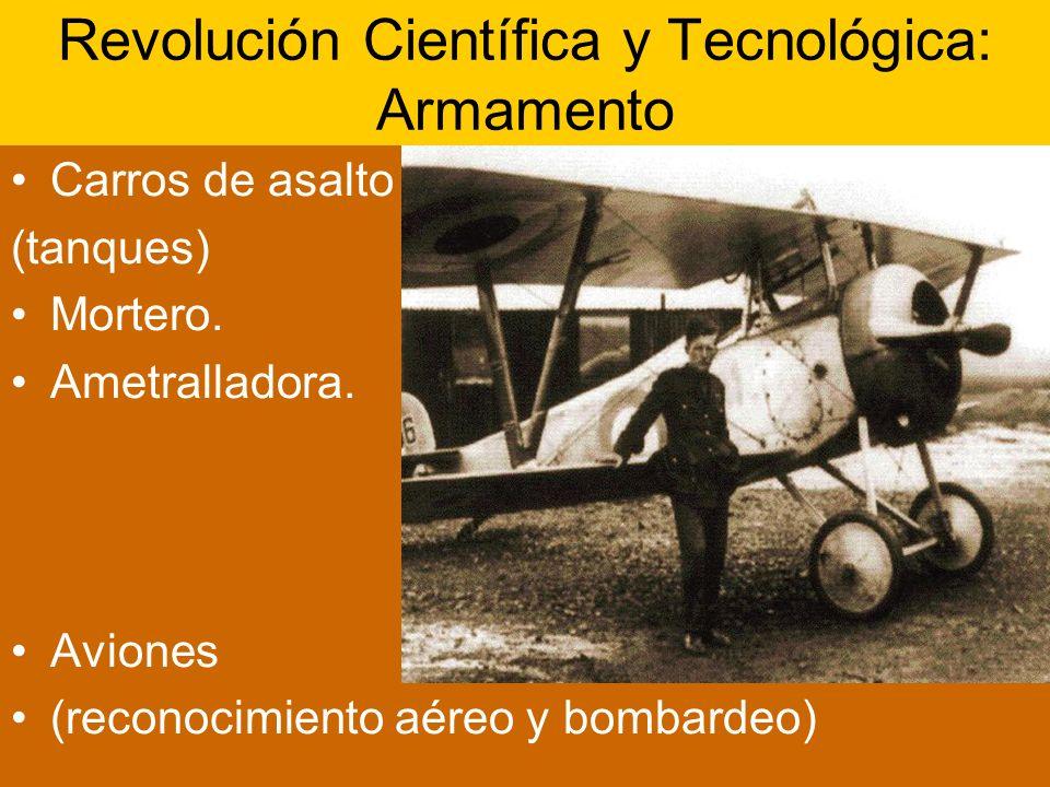 Revolución Científica y Tecnológica: Armamento