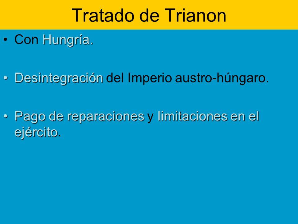 Tratado de Trianon Con Hungría.