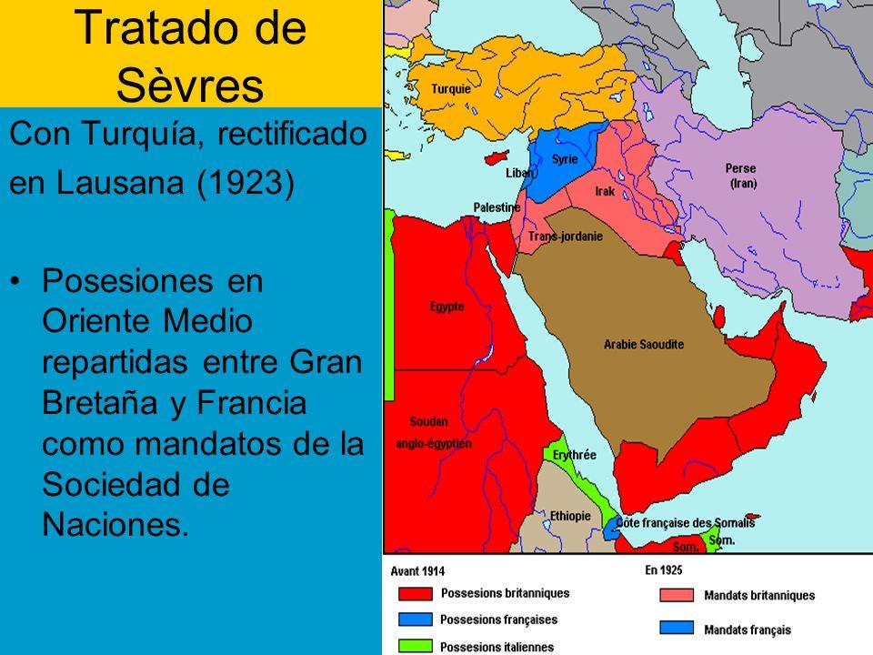 Tratado de Sèvres Con Turquía, rectificado en Lausana (1923)