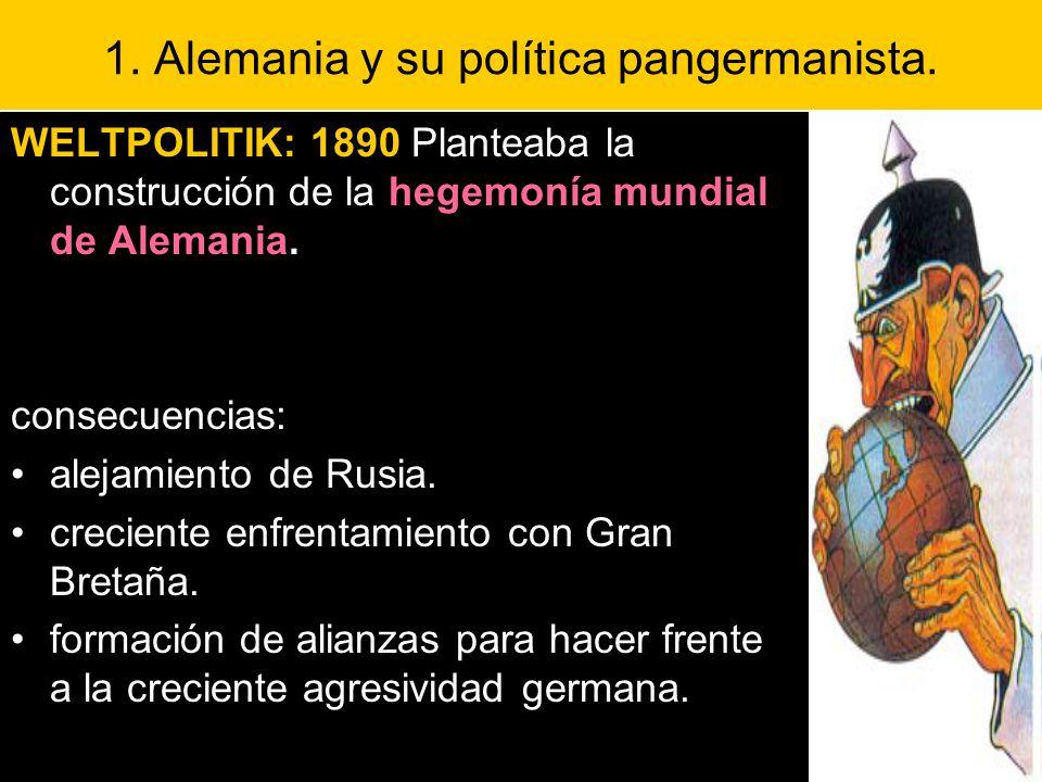 1. Alemania y su política pangermanista.