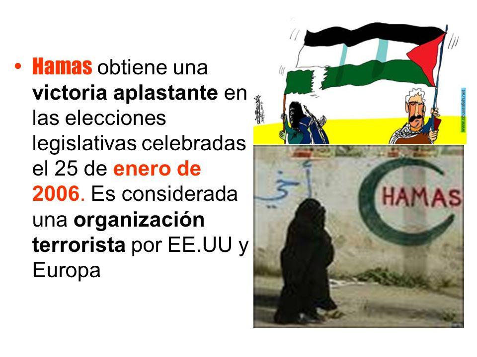 Hamas obtiene una victoria aplastante en las elecciones legislativas celebradas el 25 de enero de 2006.