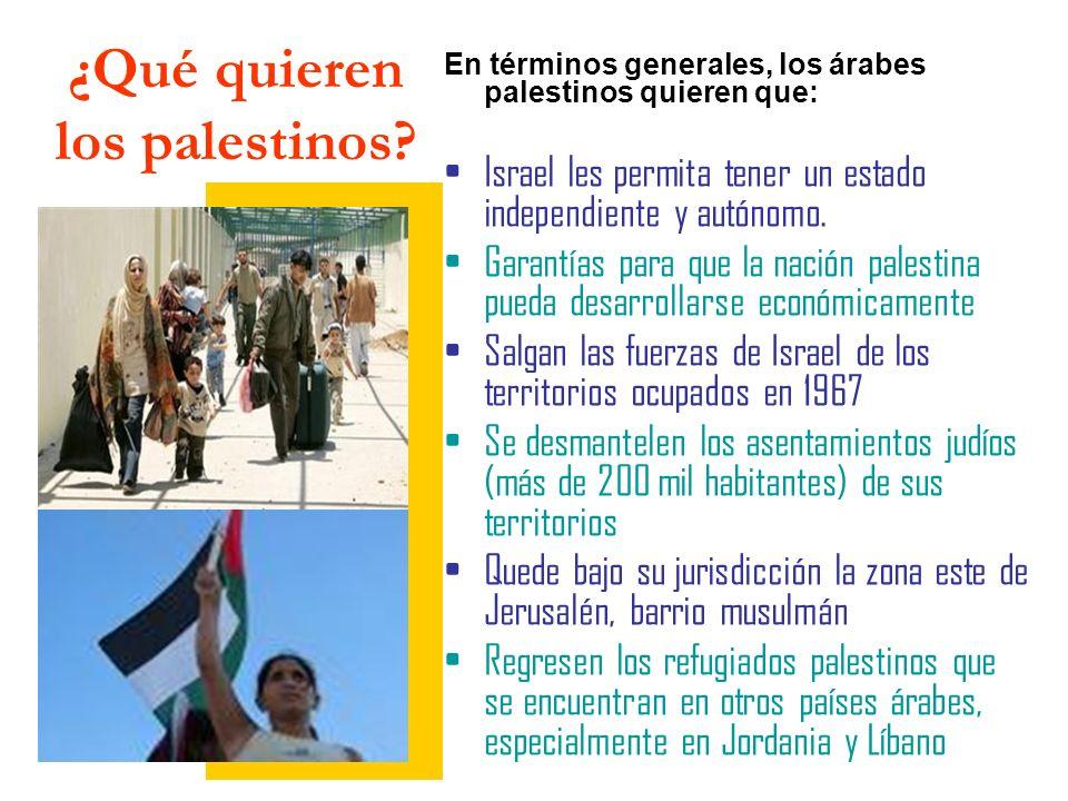 ¿Qué quieren los palestinos