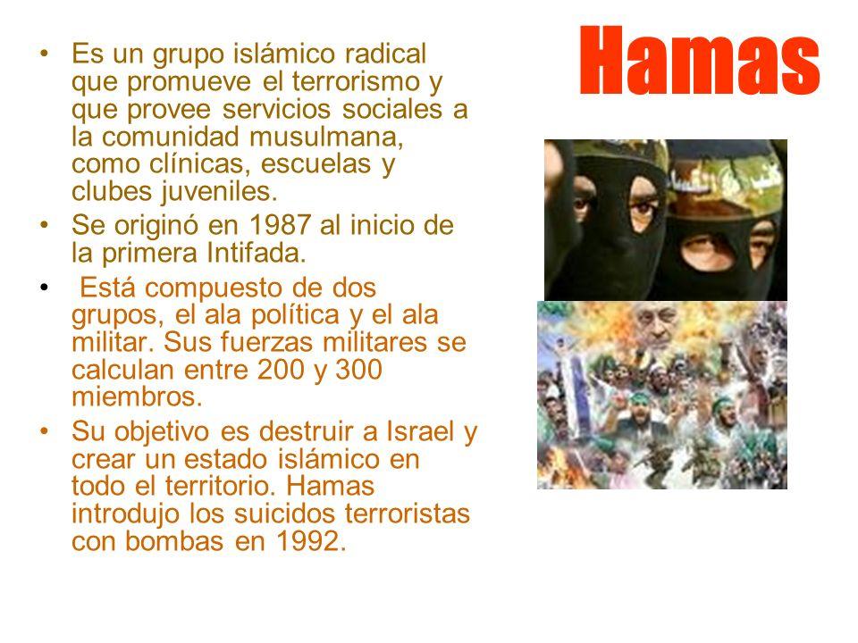 Es un grupo islámico radical que promueve el terrorismo y que provee servicios sociales a la comunidad musulmana, como clínicas, escuelas y clubes juveniles.