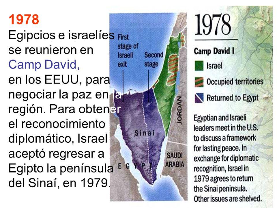 1978 Egipcios e israelíes se reunieron en Camp David,