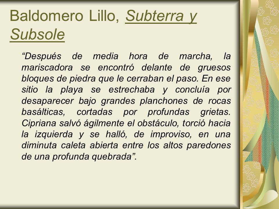 Baldomero Lillo, Subterra y Subsole