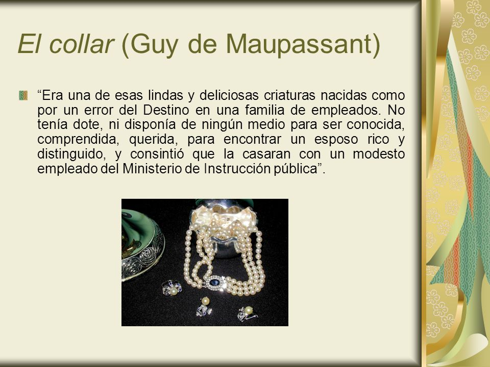 El collar (Guy de Maupassant)