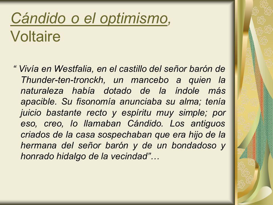Cándido o el optimismo, Voltaire