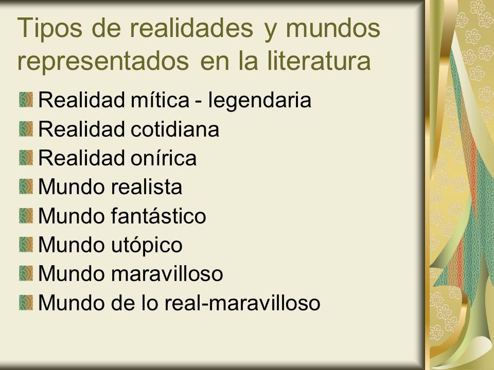 Tipos de realidades y mundos representados en la literatura