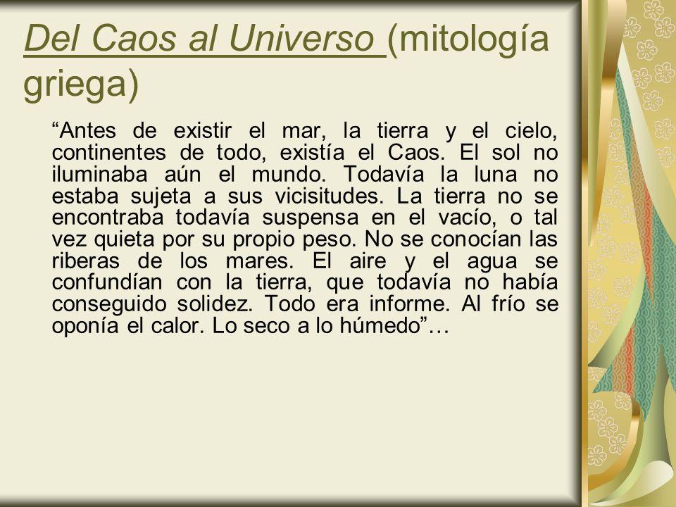 Del Caos al Universo (mitología griega)