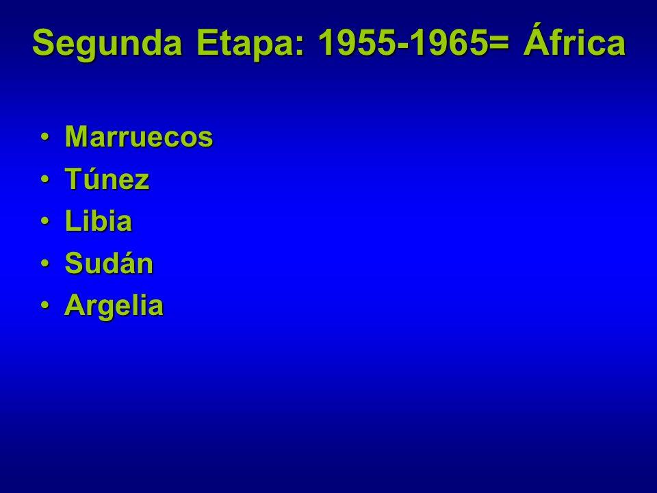 Segunda Etapa: 1955-1965= África