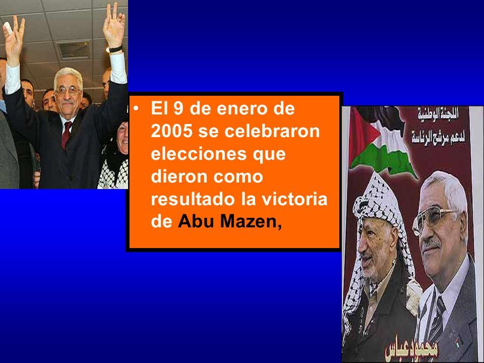 El 9 de enero de 2005 se celebraron elecciones que dieron como resultado la victoria de Abu Mazen,