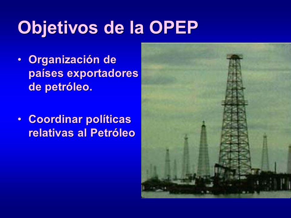 Objetivos de la OPEP Organización de países exportadores de petróleo.