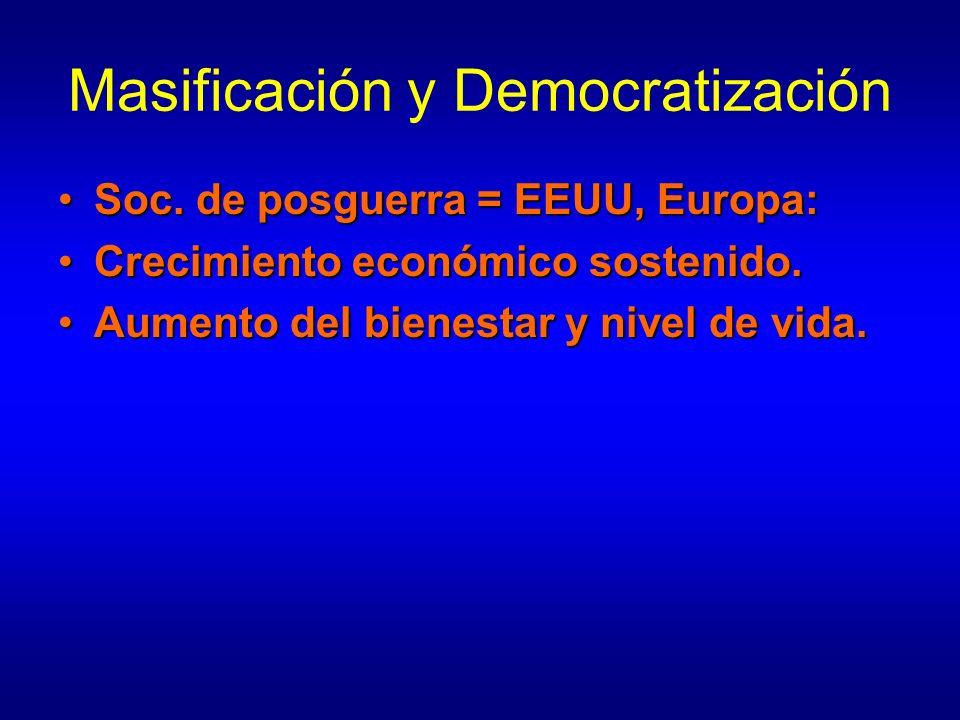 Masificación y Democratización