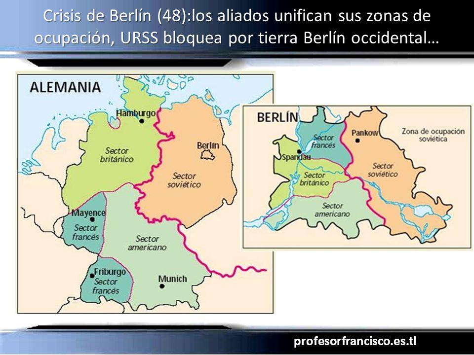 Crisis de Berlín (48):los aliados unifican sus zonas de ocupación, URSS bloquea por tierra Berlín occidental…