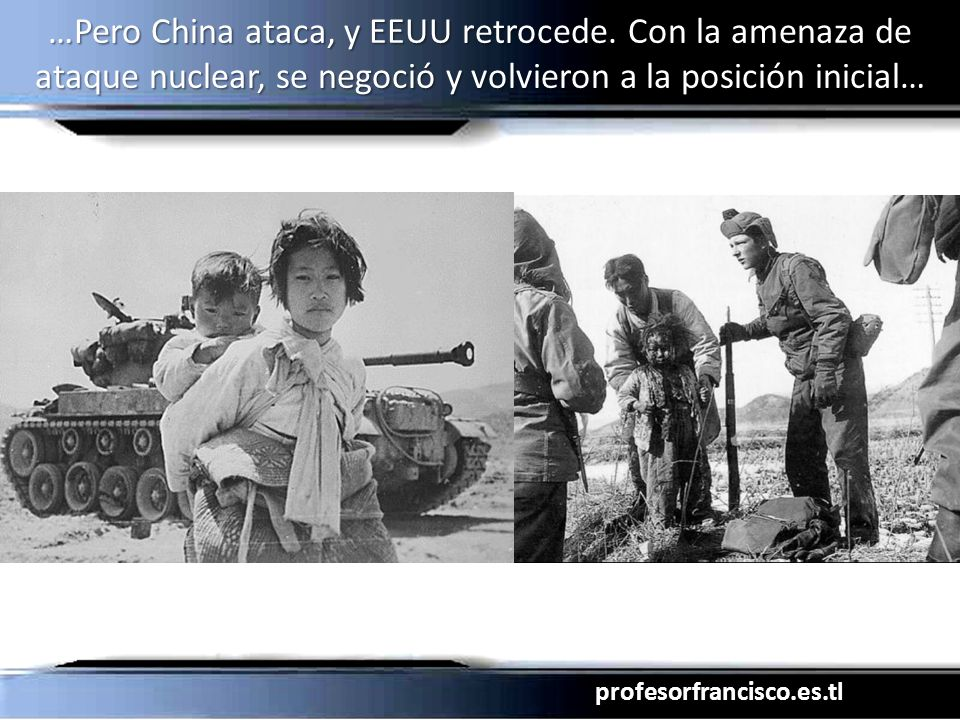 …Pero China ataca, y EEUU retrocede