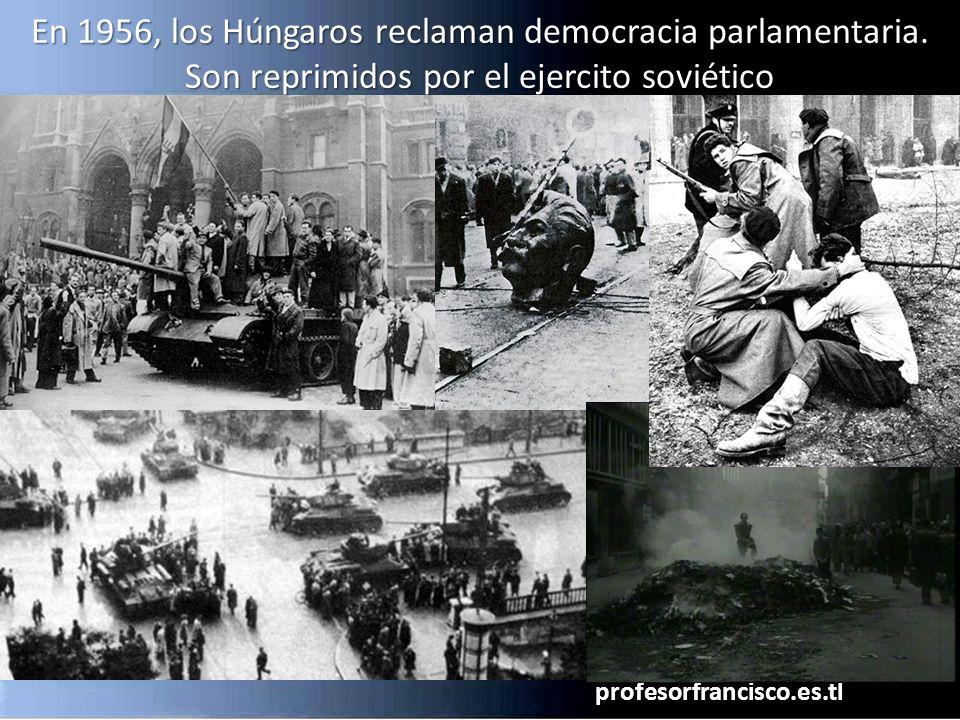 En 1956, los Húngaros reclaman democracia parlamentaria