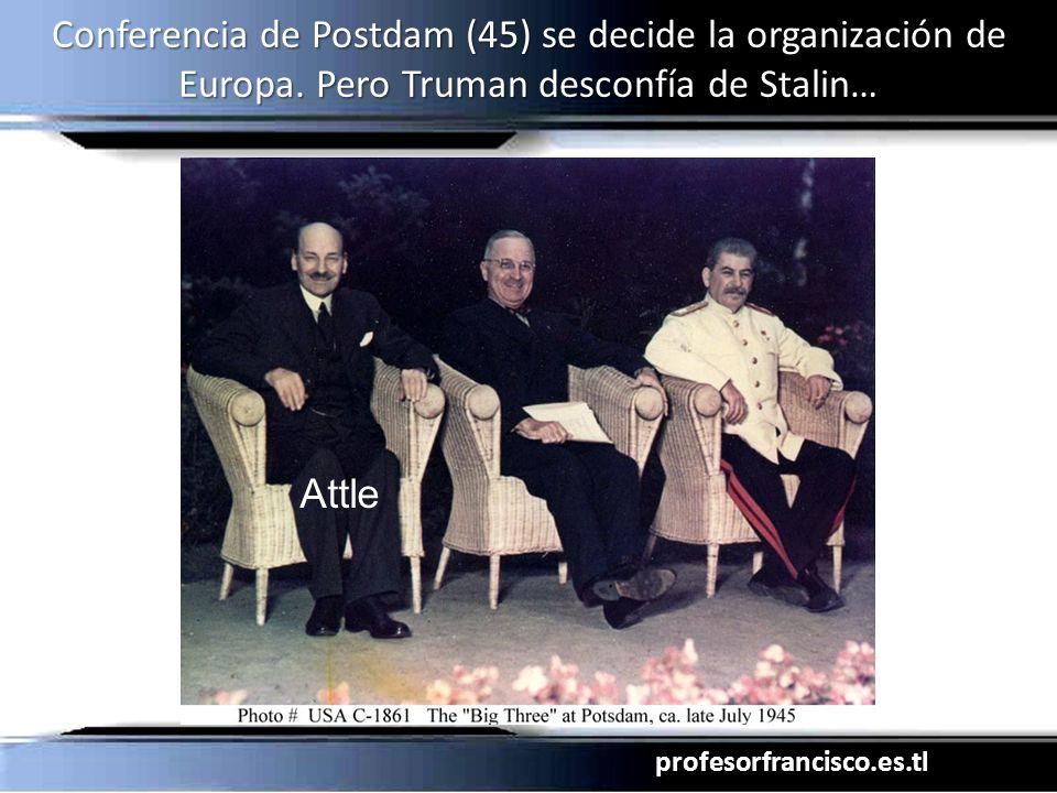 Conferencia de Postdam (45) se decide la organización de Europa
