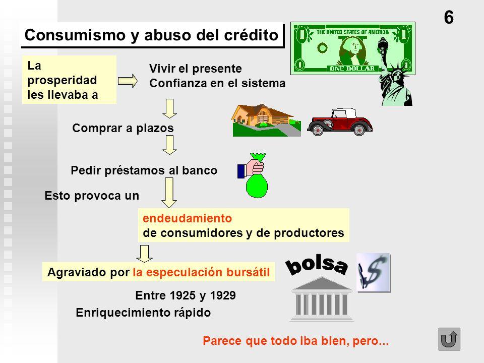 bolsa 6 Consumismo y abuso del crédito La prosperidad les llevaba a
