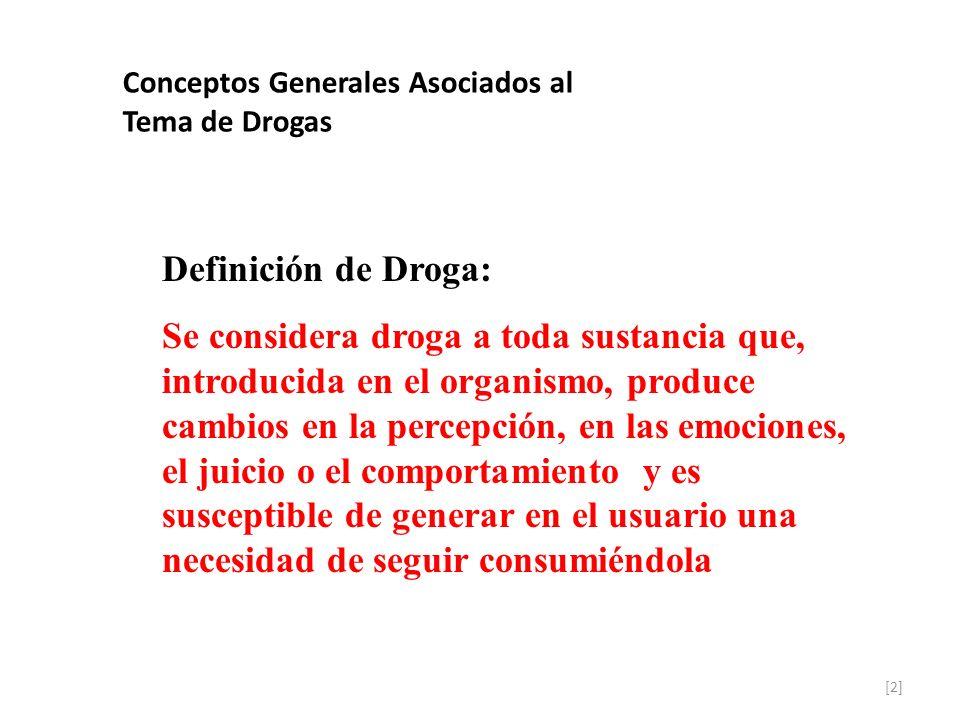 Conceptos Generales Asociados al Tema de Drogas