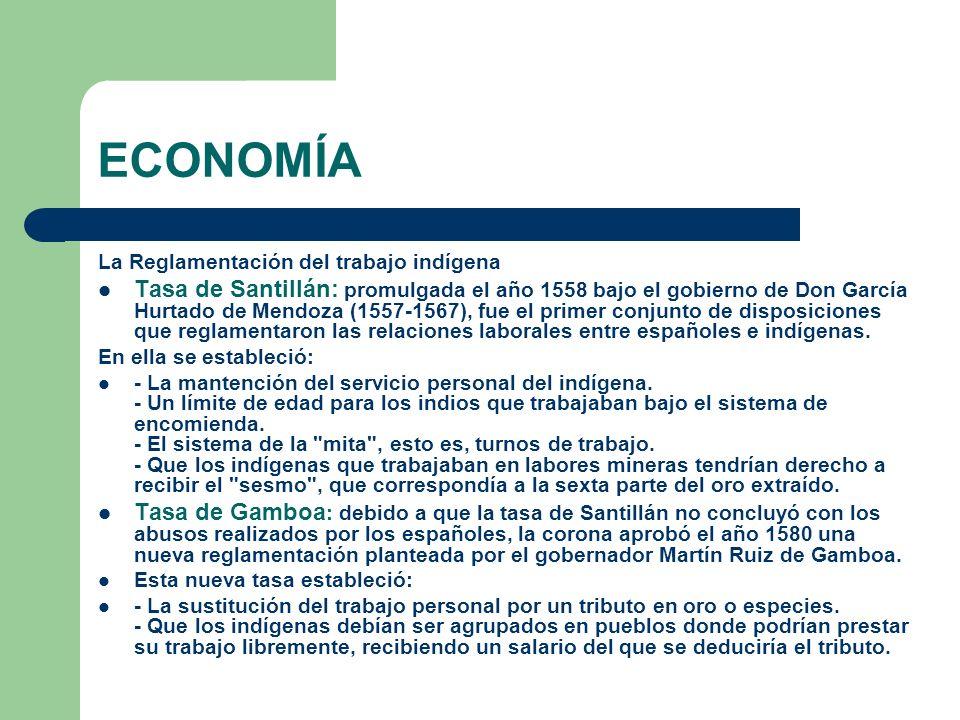 ECONOMÍALa Reglamentación del trabajo indígena.