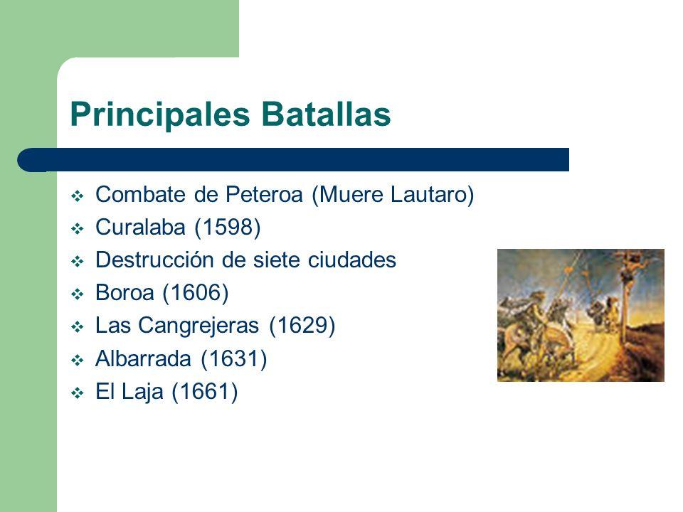 Principales Batallas Combate de Peteroa (Muere Lautaro)