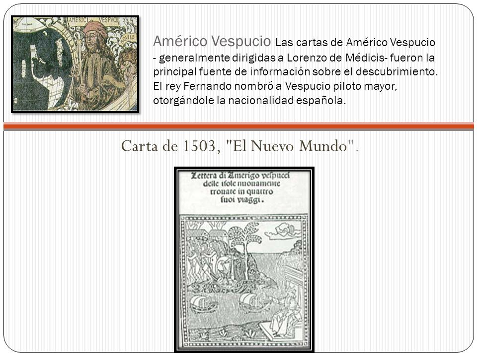 Carta de 1503, El Nuevo Mundo .