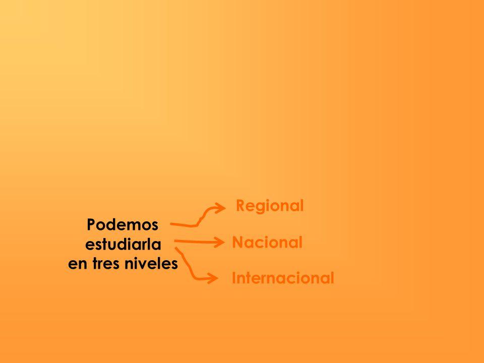 Regional Podemos estudiarla en tres niveles Nacional Internacional