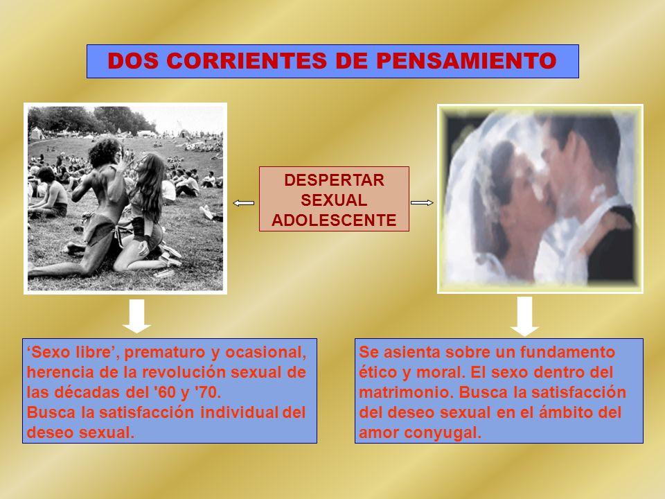 DOS CORRIENTES DE PENSAMIENTO DESPERTAR SEXUAL ADOLESCENTE