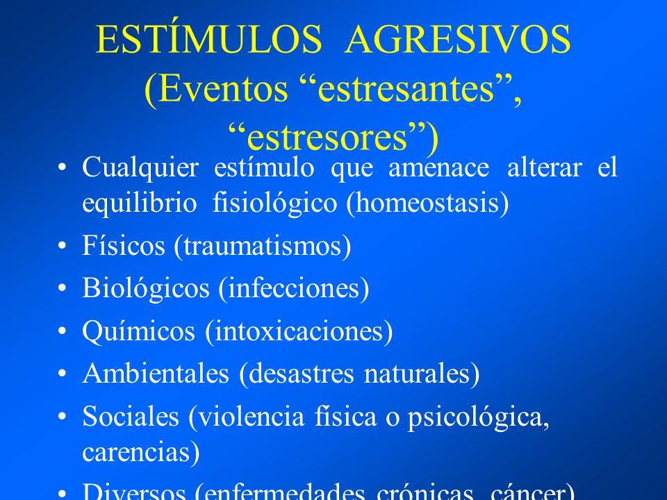 ESTÍMULOS AGRESIVOS (Eventos estresantes , estresores )