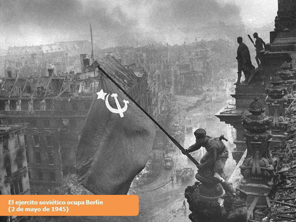 El ejercito soviético ocupa Berlín
