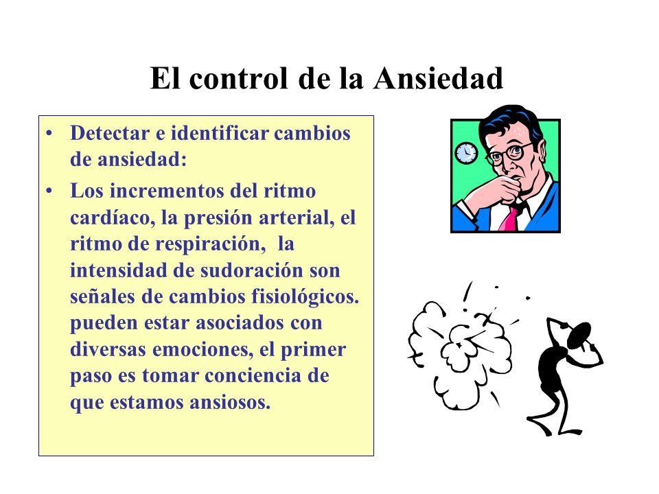 El control de la Ansiedad