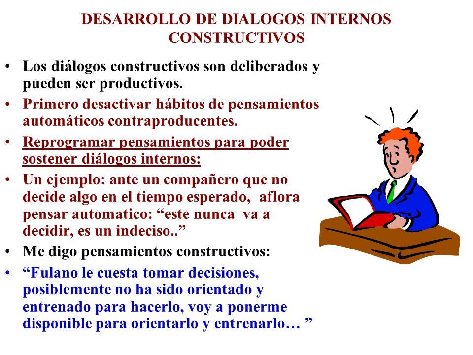 DESARROLLO DE DIALOGOS INTERNOS CONSTRUCTIVOS