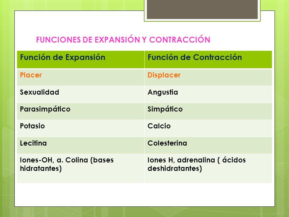 FUNCIONES DE EXPANSIÓN Y CONTRACCIÓN