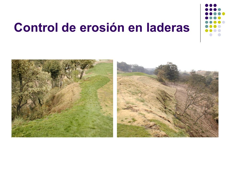 Control de erosión en laderas
