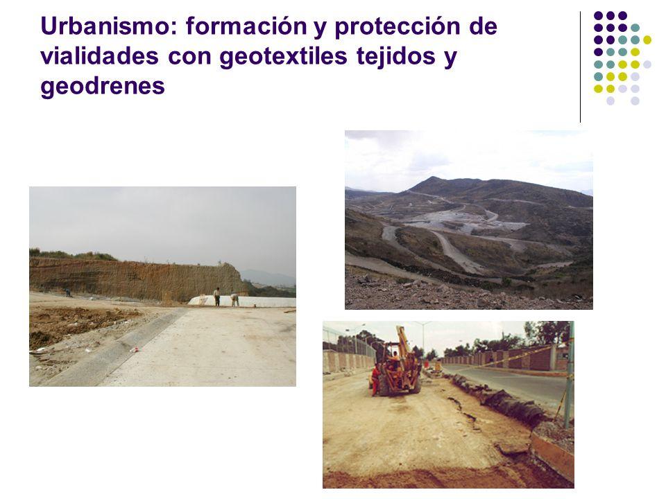 Urbanismo: formación y protección de vialidades con geotextiles tejidos y geodrenes