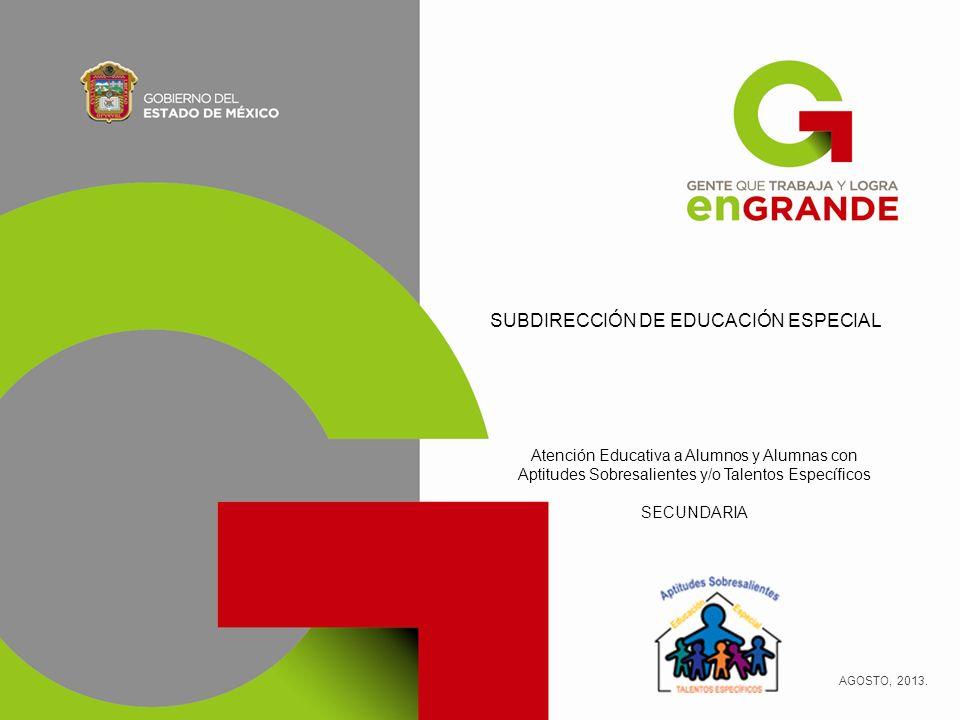 SUBDIRECCIÓN DE EDUCACIÓN ESPECIAL