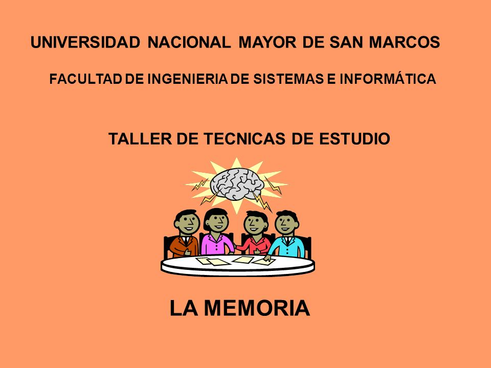 TALLER DE TECNICAS DE ESTUDIO